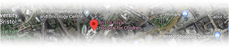 Satellite image of Bristol Royal Hospital for Children